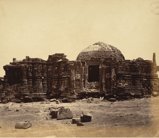 ancient image of somnath temple, gujrat, India