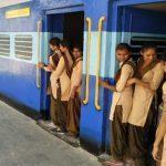 school painted as train in rajasthan alwar